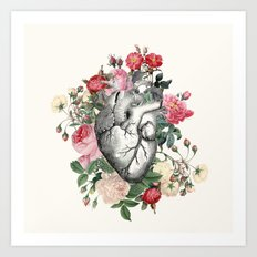 Roses for her Heart Art Print
