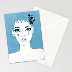 Сrying girl Stationery Cards