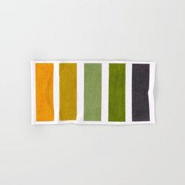 Olive Green & Hazel Brown Geometric Pattern Hand & Bath Towel