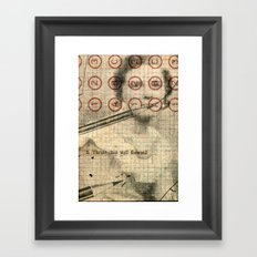 The Authoress Framed Art Print