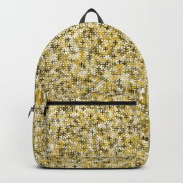 Gold Crosses Pattern Backpack