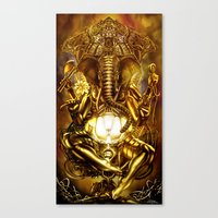 ganesha Canvas Prints featuring Ganesha by Giorgio Finamore