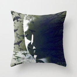 Dark-Side (Self-portrait) Throw Pillow
