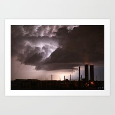 Industrial Spark Art Print