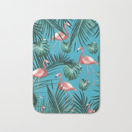 Tropical Flamingo Pattern #8 #tropical #decor #art #society6 Bath Mat