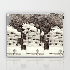 Deconstructed Buildings at Night Laptop & iPad Skin