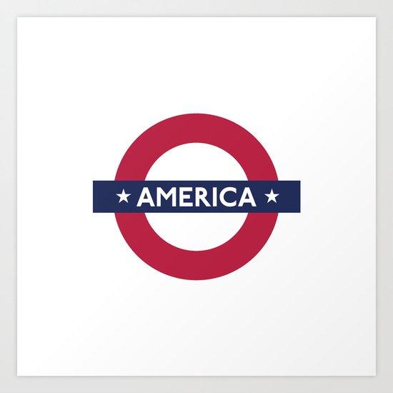 The Transatlantic Line Art Print