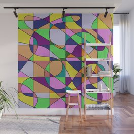 Pastel Pieces Wall Mural