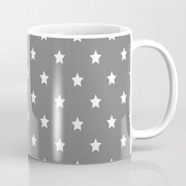 Grey With White Stars Pattern Coffee Mug