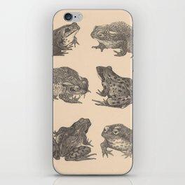 Naturalist Frogs iPhone Skin