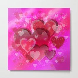 Love illustration to valentines day Metal Print