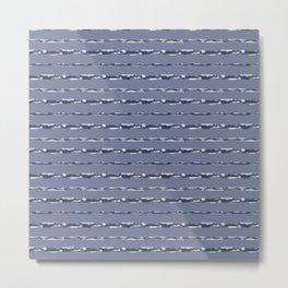 Denim Cloud Stripe 2 Metal Print
