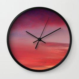 Sunset and Fishermen Wall Clock