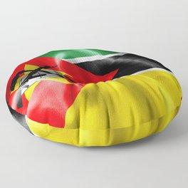 Mozambique Flag Floor Pillow