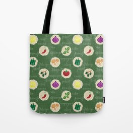 Deconstruction Pizza Tote Bag