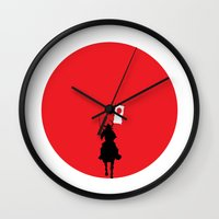 japan Wall Clocks featuring Japan by bluedox