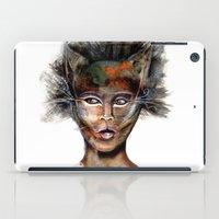 superheroes iPad Cases featuring Superheroes SF by Irmak Akcadogan
