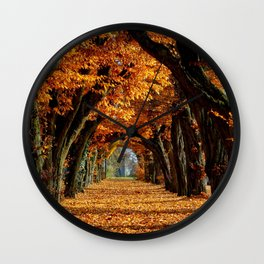 autumn Park Wall Clock