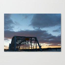another bridge sunset Canvas Print