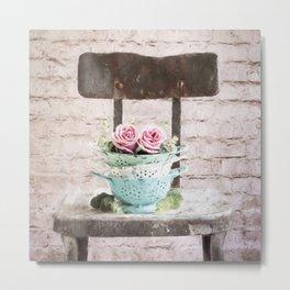 Colander Roses Metal Print