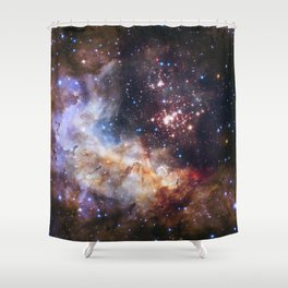 Hubble's 25Th Anniversary  Shower Curtain