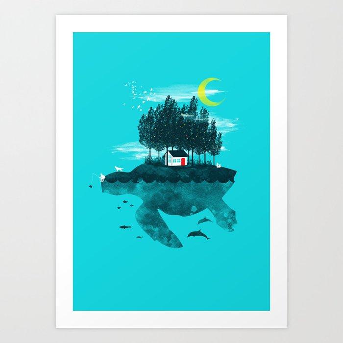 Moving Island Art Print