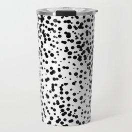 Retro Themed Dot Pattern Design Travel Mug