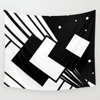 square Wall Tapestries featuring Square by Pao Designs