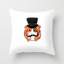 Sir Guinea Pig Throw Pillow