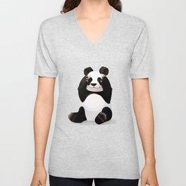 Cute big panda bear Unisex V-Neck