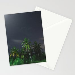 moonlight palms Stationery Cards