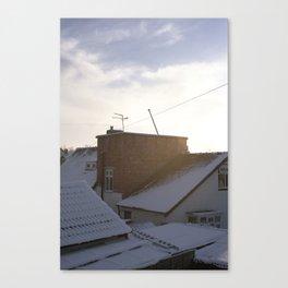 Snow suburbia Canvas Print
