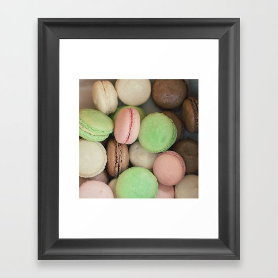 French Macaroons Framed Art Print