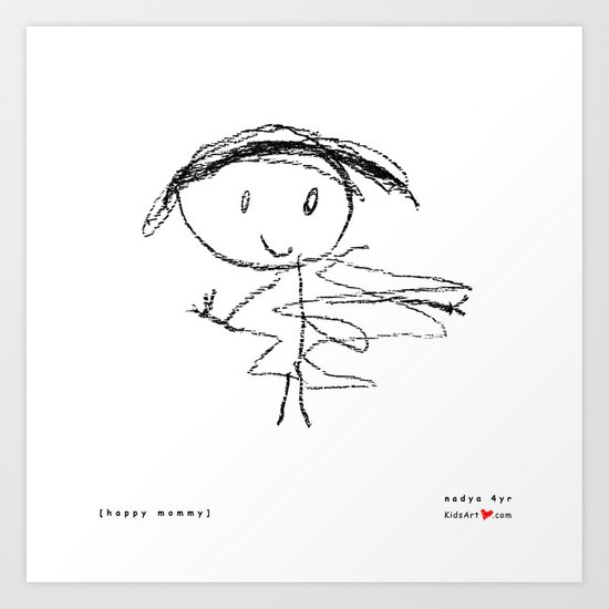 [happy mommy] - nadya 4 yr Art Print