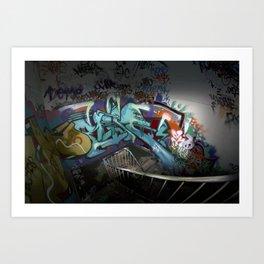 Abondoned factory graffiti Art Print