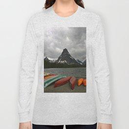 Two Medicine Lake With Sinopah Mountain Long Sleeve T-shirt