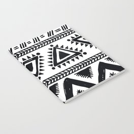 Tribal black and white Notebook