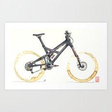 Coffee Wheels #05 Art Print