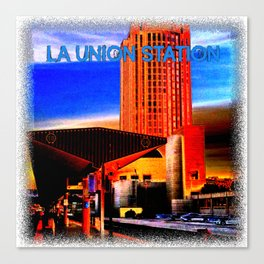 Within Union Station LA (The Dark Side of Art) by Jeronimo Rubio Photography 2016 Canvas Print