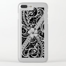 Hawaiian style tribal 2 Clear iPhone Case