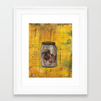 transparent Framed Art Prints featuring Transparent by Hannah Bingham