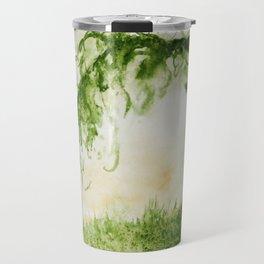 Green Sap Green WaterColour Tree by CheyAnne Sexton Travel Mug