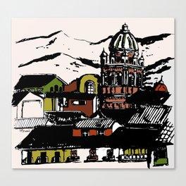 Cuzco - Peru cityview landscape Canvas Print