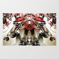 transformer Area & Throw Rugs featuring Vacío by Andre Villanueva