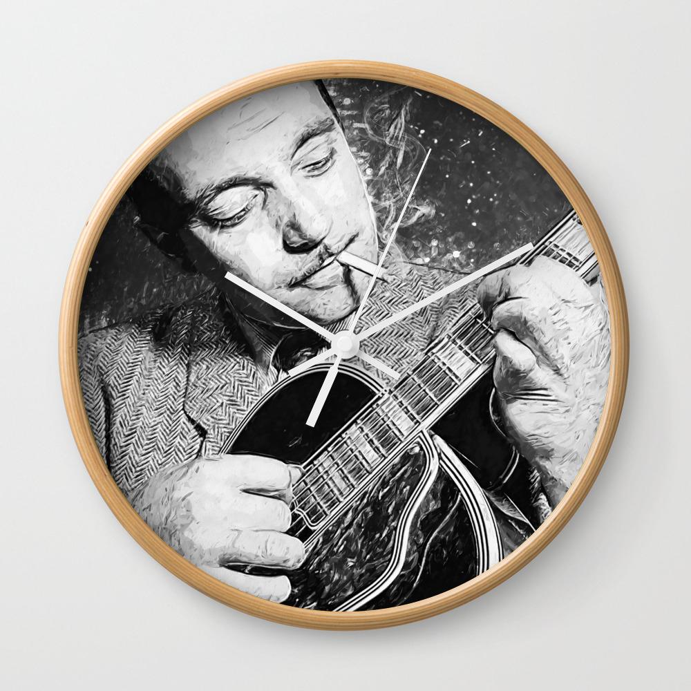 Django Reinhardt Decor Clock by Taylansoyturk CLK8752640