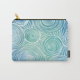 Blue Tint Abstract Carry-All Pouch