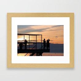 Sunset Bubbles Framed Art Print