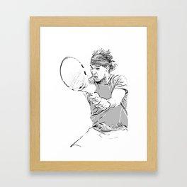 Rafa's Brilliant Backhand Framed Art Print