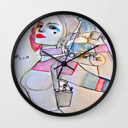 Margot Robbie by Double R Wall Clock