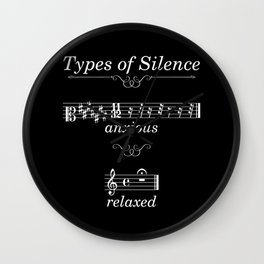 Types of silence (dark colors) Wall Clock